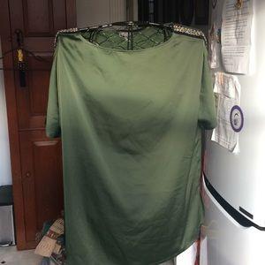 Brand new Green satin top